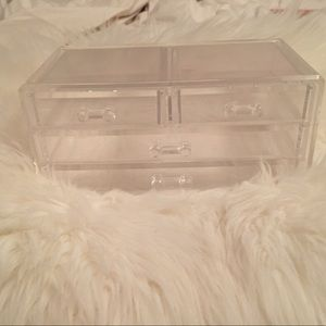 Clear Jewelry Box With Compartments